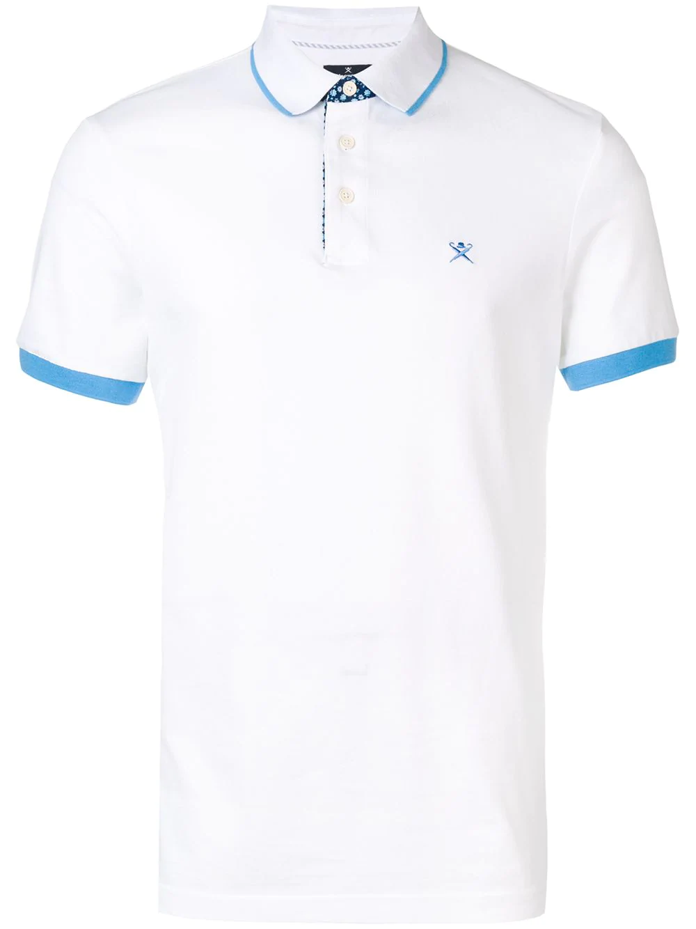 b9313a82d40d Hackett Logo Embroidered Polo Shirt - White