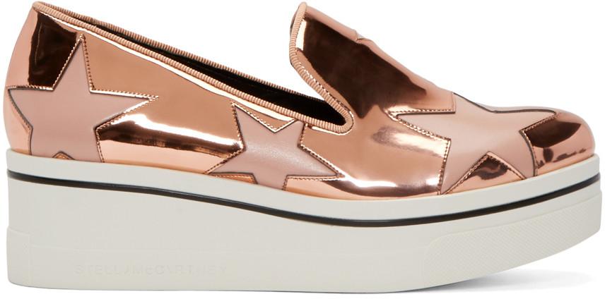 9fc2096984aac Stella Mccartney Binx Metallic Star Slip-On Sneaker, Copper Tea Rose, Rose  Gold
