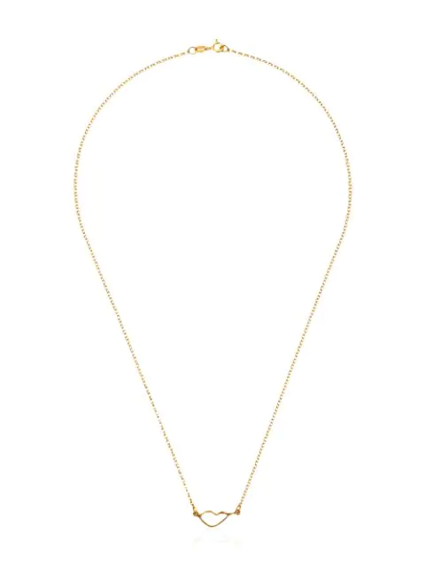 Holly Ryan Gold-plated Sterling Silver Lip-pendant Necklace In Metallic