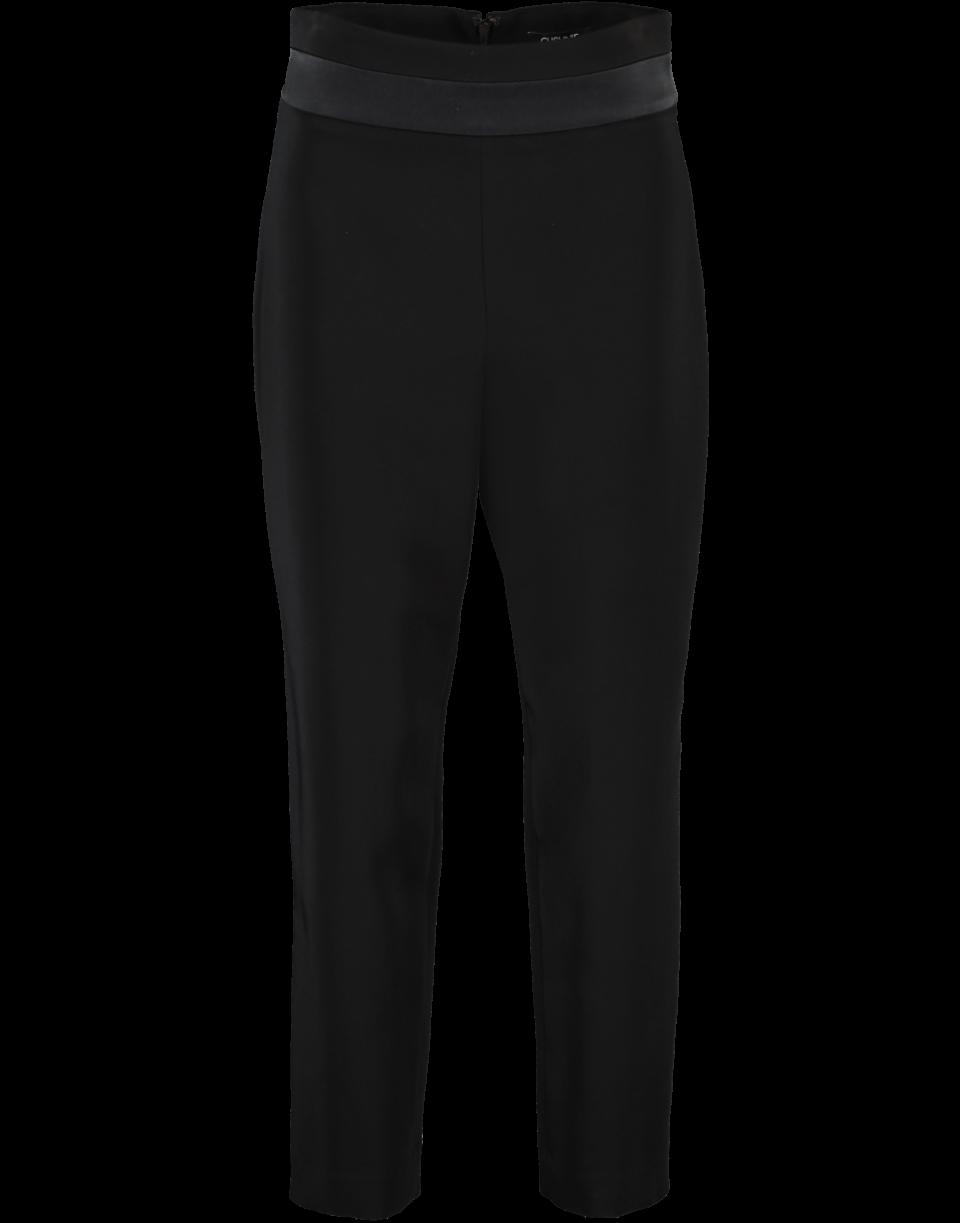 Cushnie High Waist Cropped Slip Pant In Black