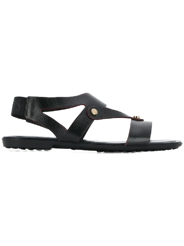 dd2eaaf00 Tod s Sandals In Patent Leather And Leather In Black