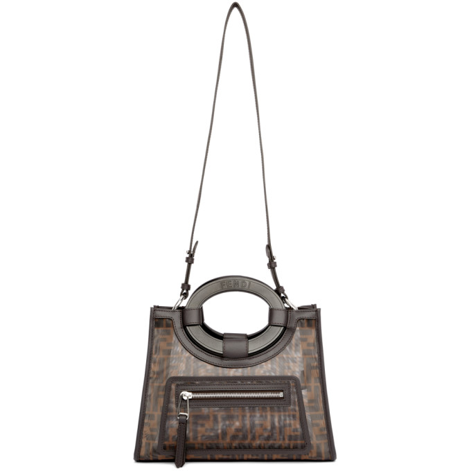 Fendi Black And Brown Small Forever  Runaway Tote In F12Pn Black