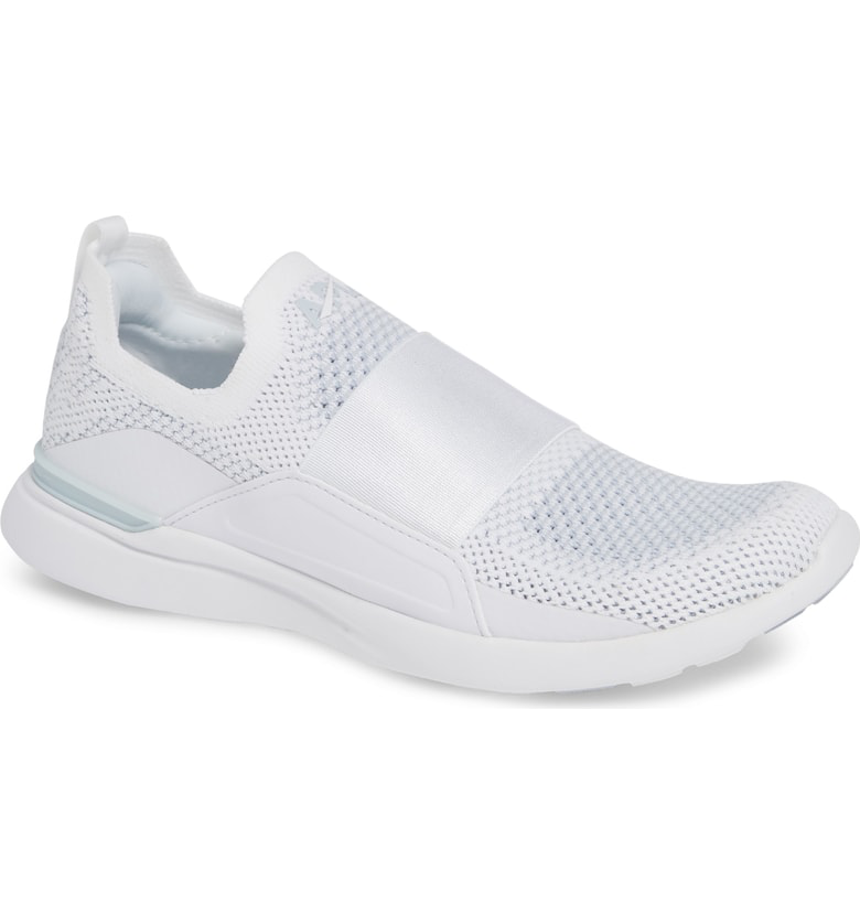 2f68992452b Apl Athletic Propulsion Labs Techloom Bliss Knit Running Shoe In White   Steel Grey