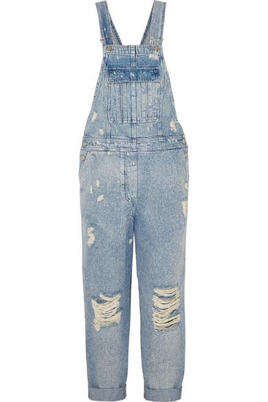 Balmain 牛仔背带裤 In Blue