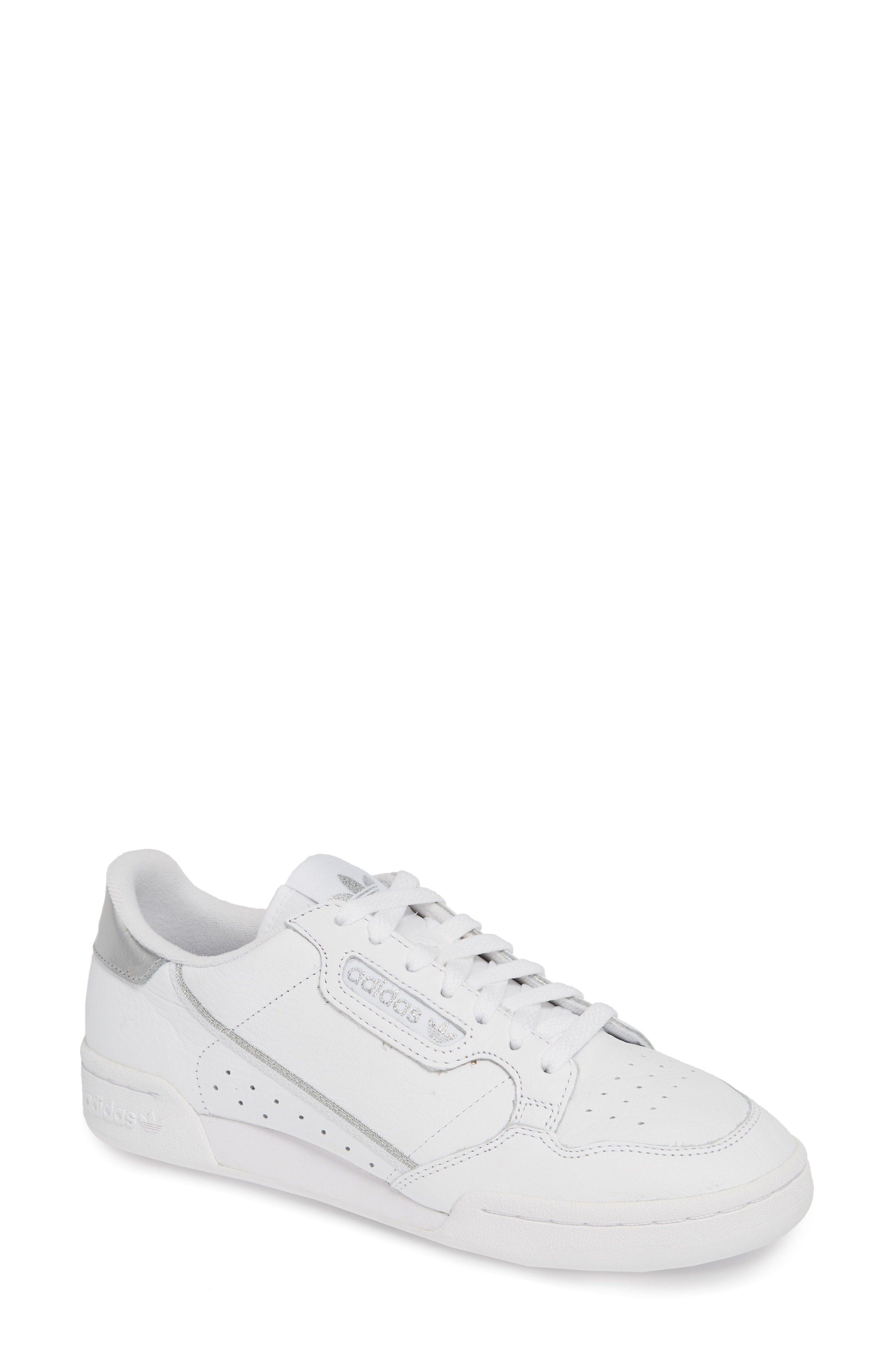 premium selection a388e fdc2c Adidas Originals Continental 80 Sneaker In White Scarlet Nav