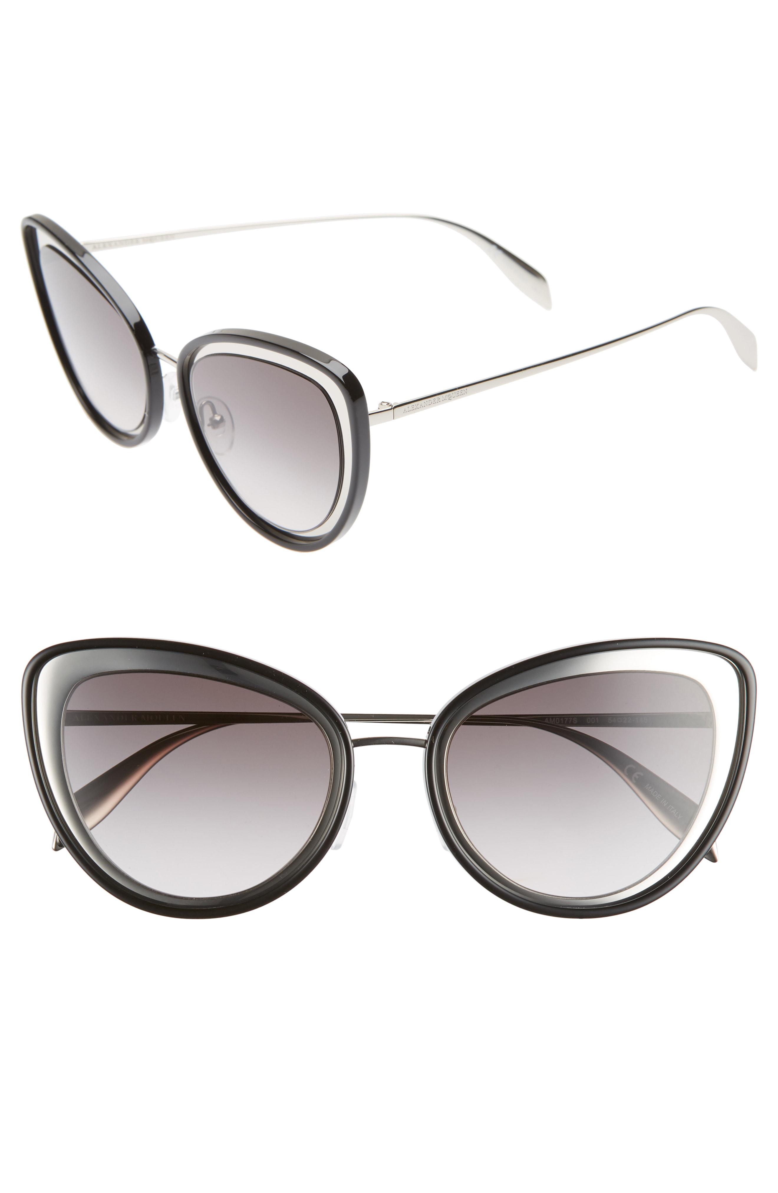 McQ Alexander McQueen Womens Cat Eye Sunglasses MQ0043S-30000661-004