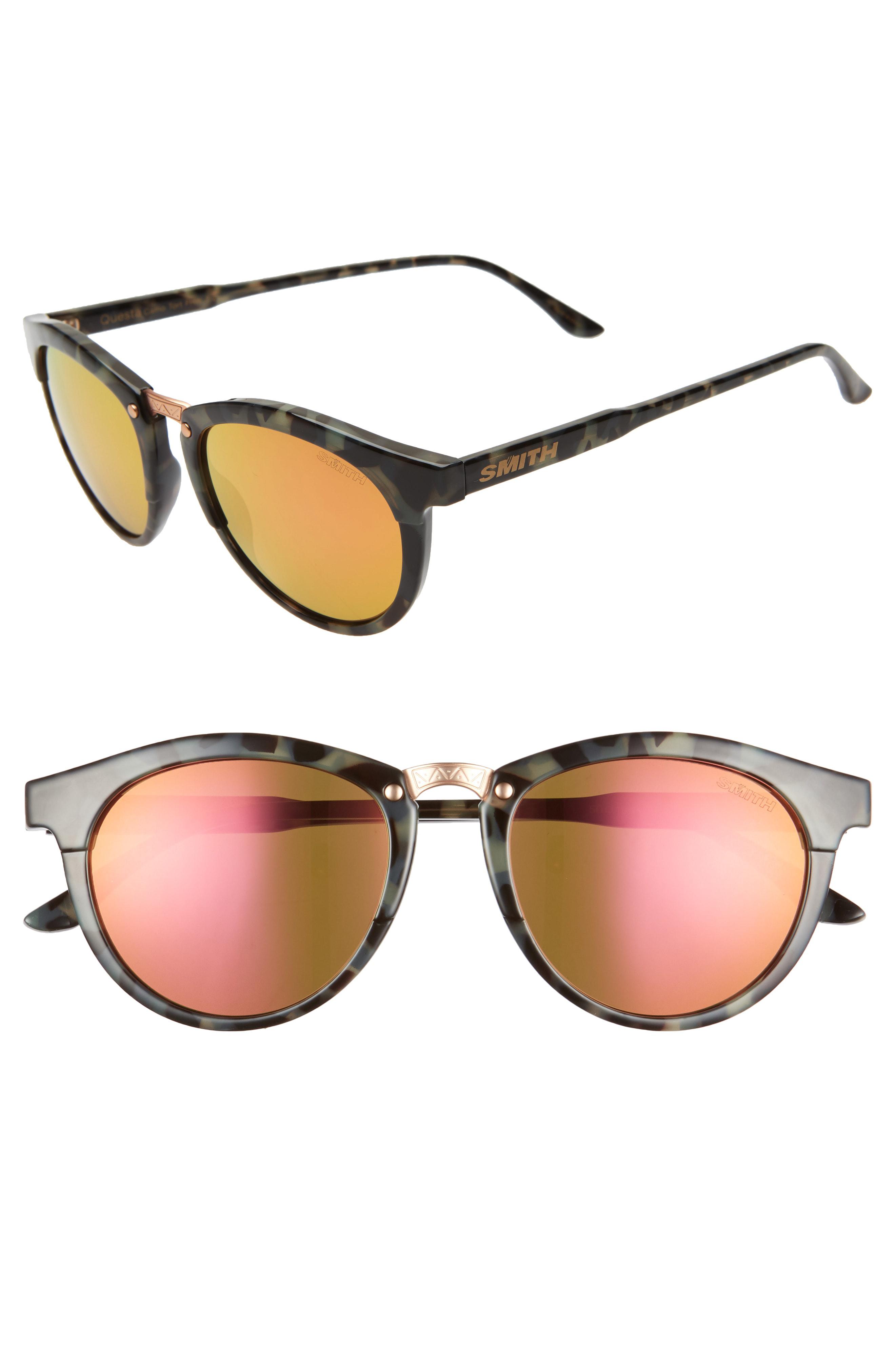 1fcde8a58 Smith Questa 49Mm Chromapop Polarized Sunglasses - Camo Tortoise/ Pink