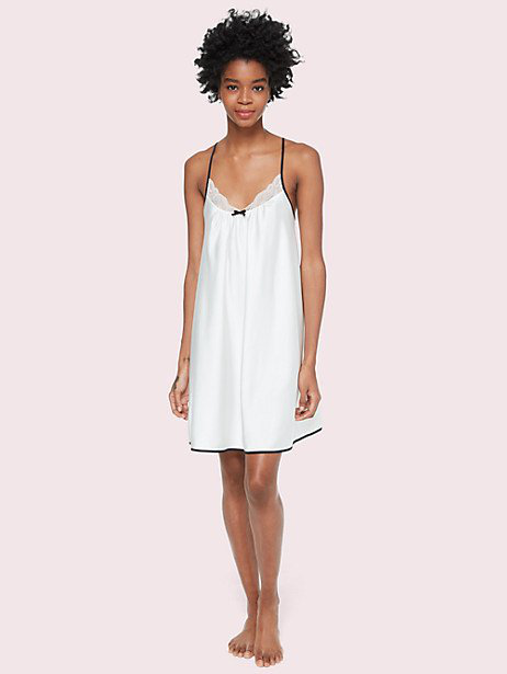 Kate Spade Lace Bridal Chemise In White