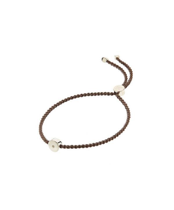 3ec1aece5 Monica Vinader Silver Linear Solo Diamond Cord Friendship Bracelet ...