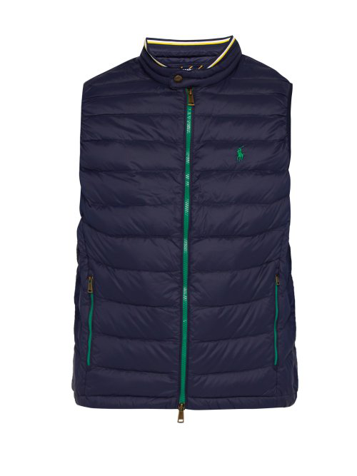 Down In Quilted Navy Gilet 34L5RqAj