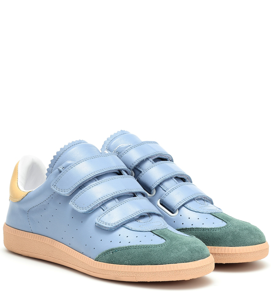 Isabel Marant Beth Leather Sneakers In Blue