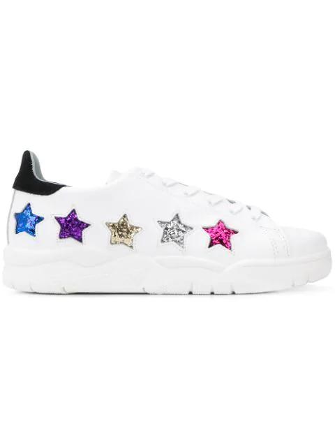 Chiara Ferragni Star Sneakers In White