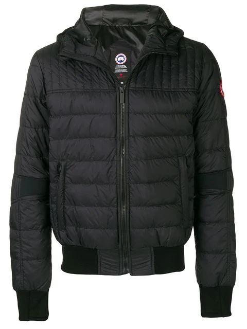 Canada Goose Zipped Padded Jacket In 61 Black