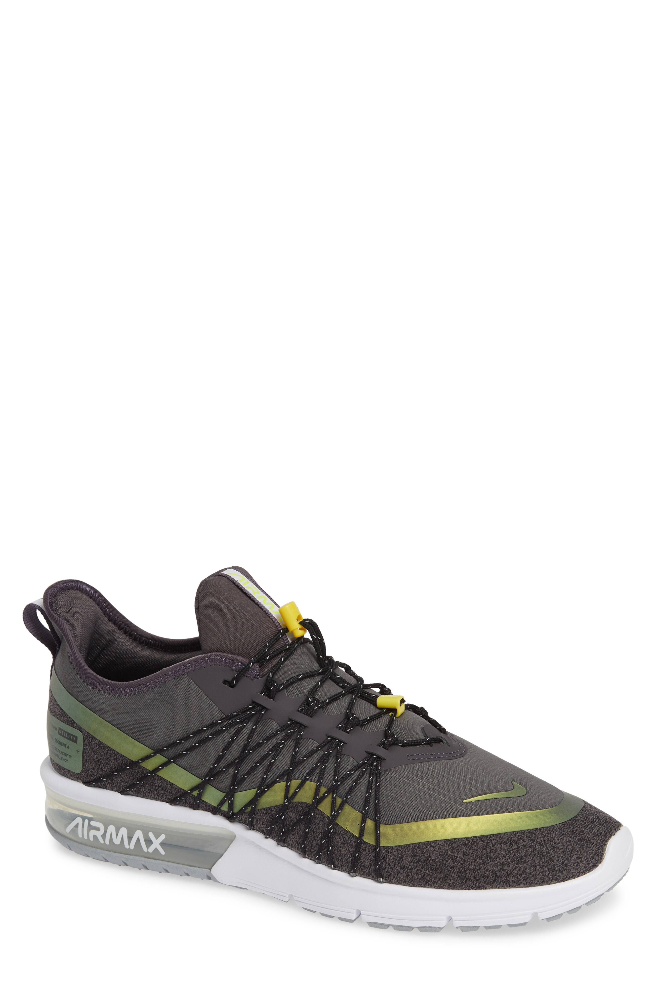 adacb2a27c Select Size. Store Status Price. Nike Air Max Sequent 4 Utility Running  Shoe In Thunder Grey/ Volt