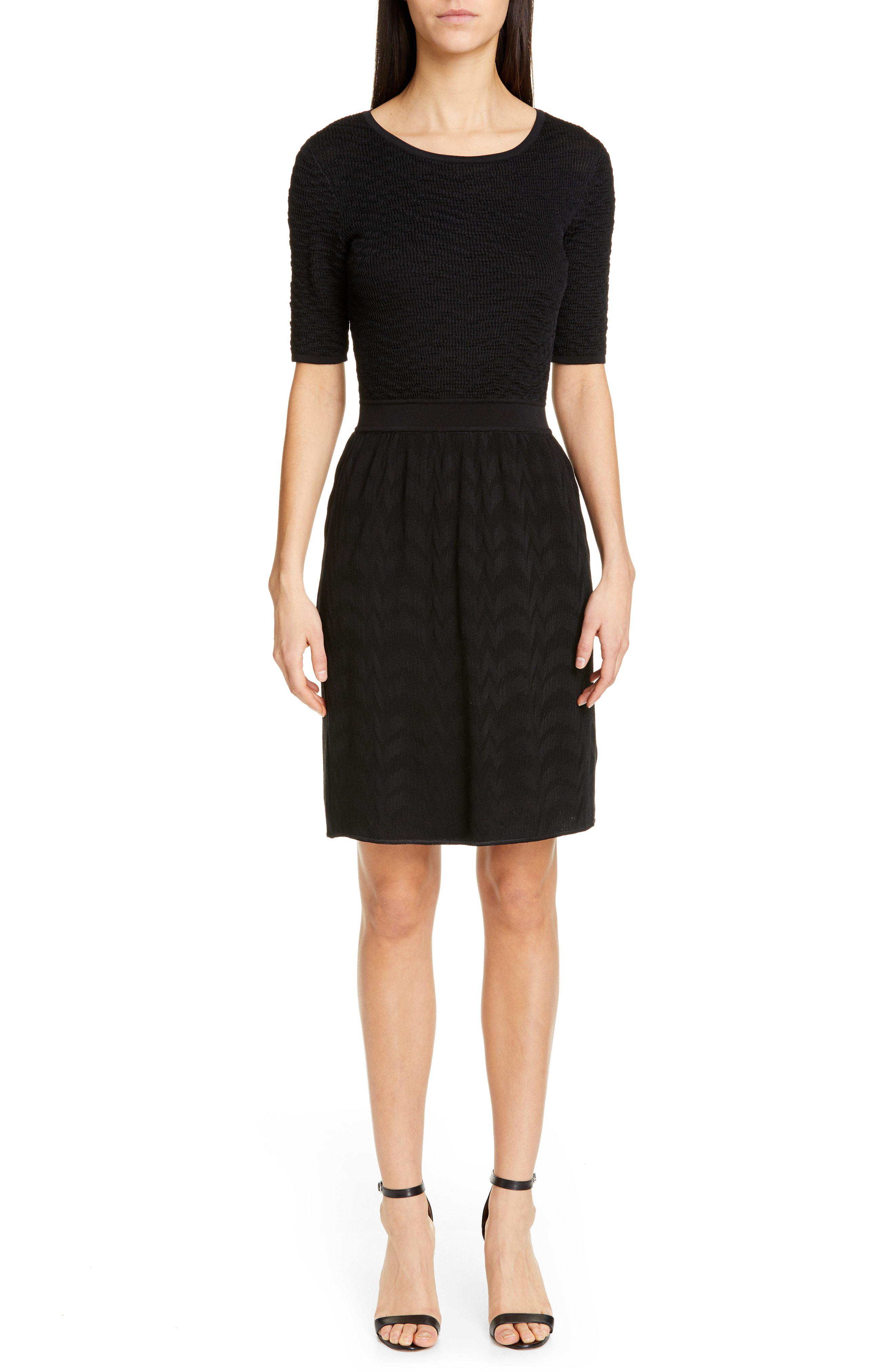b78c6cb63cc Missoni Short Sleeve Sweater Dress In Black