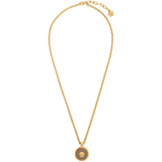 Versace Gold Medusa Round Necklace