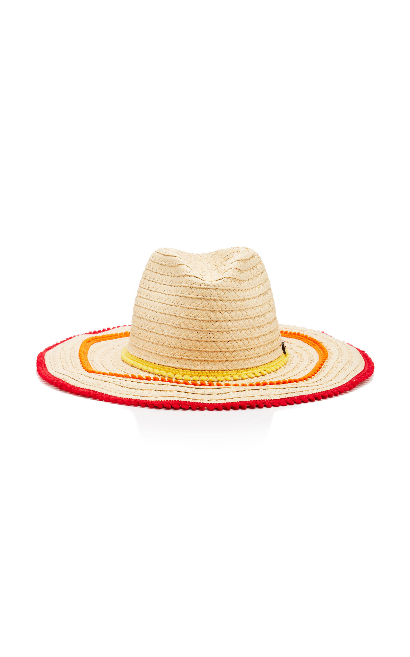 6c022f36 FilÙ Hats Batu Tara Picot-Trimmed Straw Hat In Multi