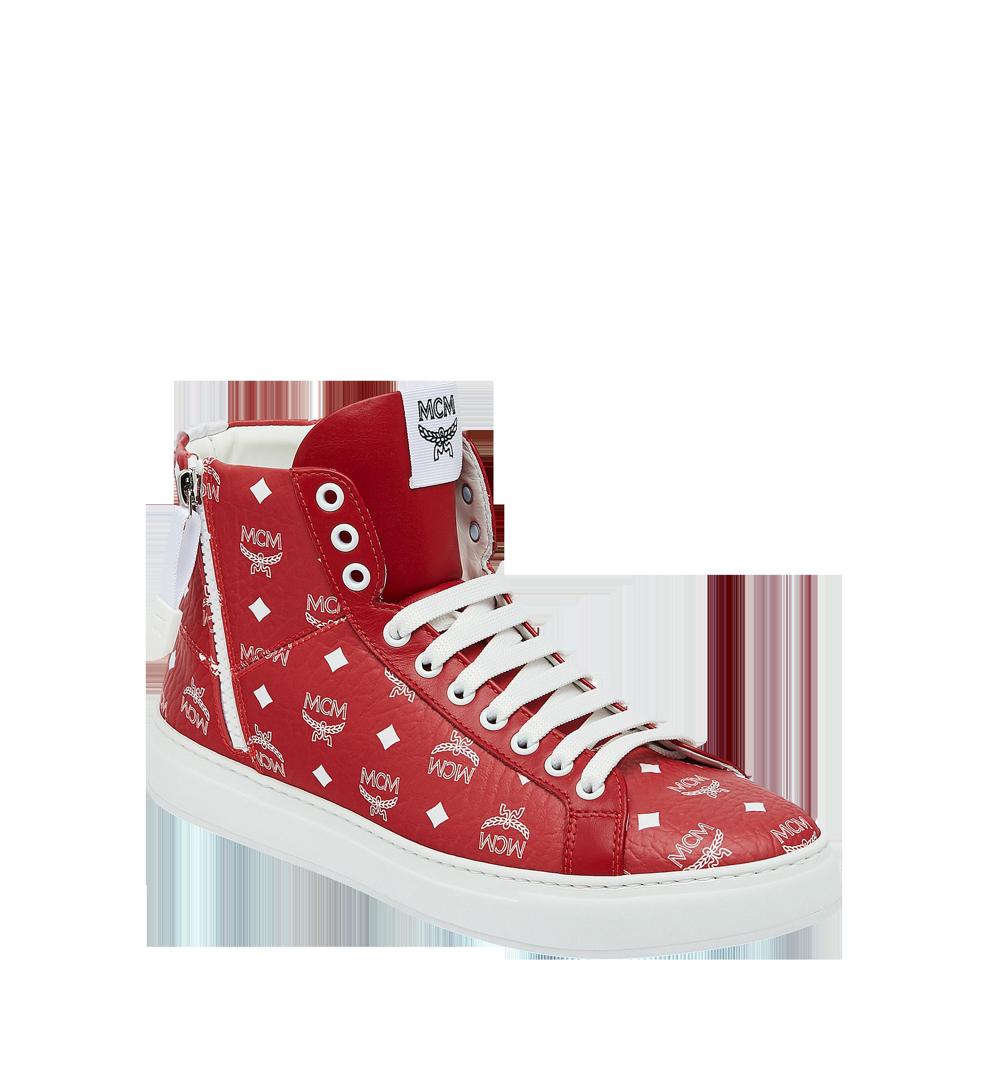 845a3b4f32c Men's High Top Sneakers In White Logo Visetos in White Logo Viva Red
