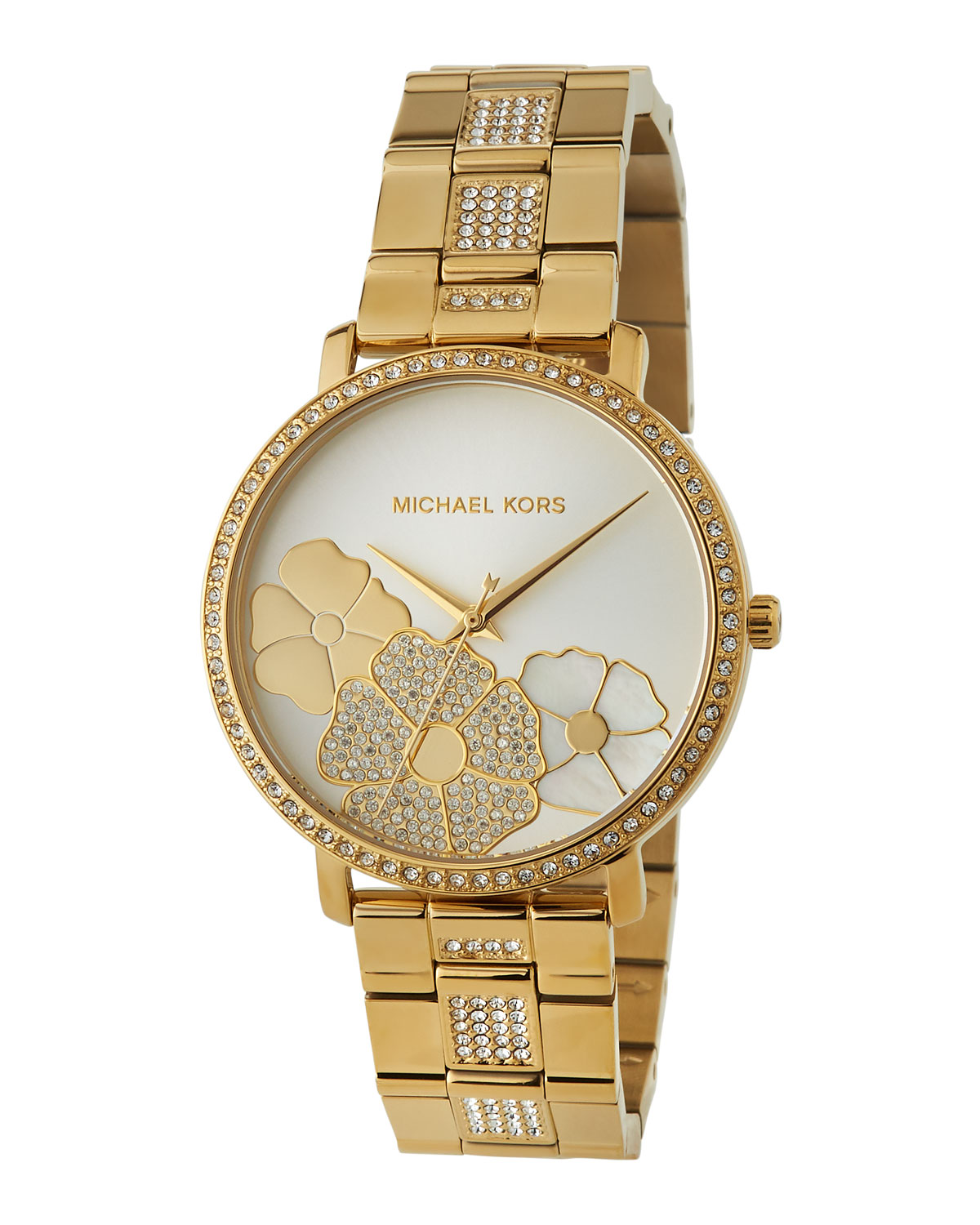 d361473307fe Michael Michael Kors 38Mm Jaryn Crystal 3-Flower Bracelet Watch ...