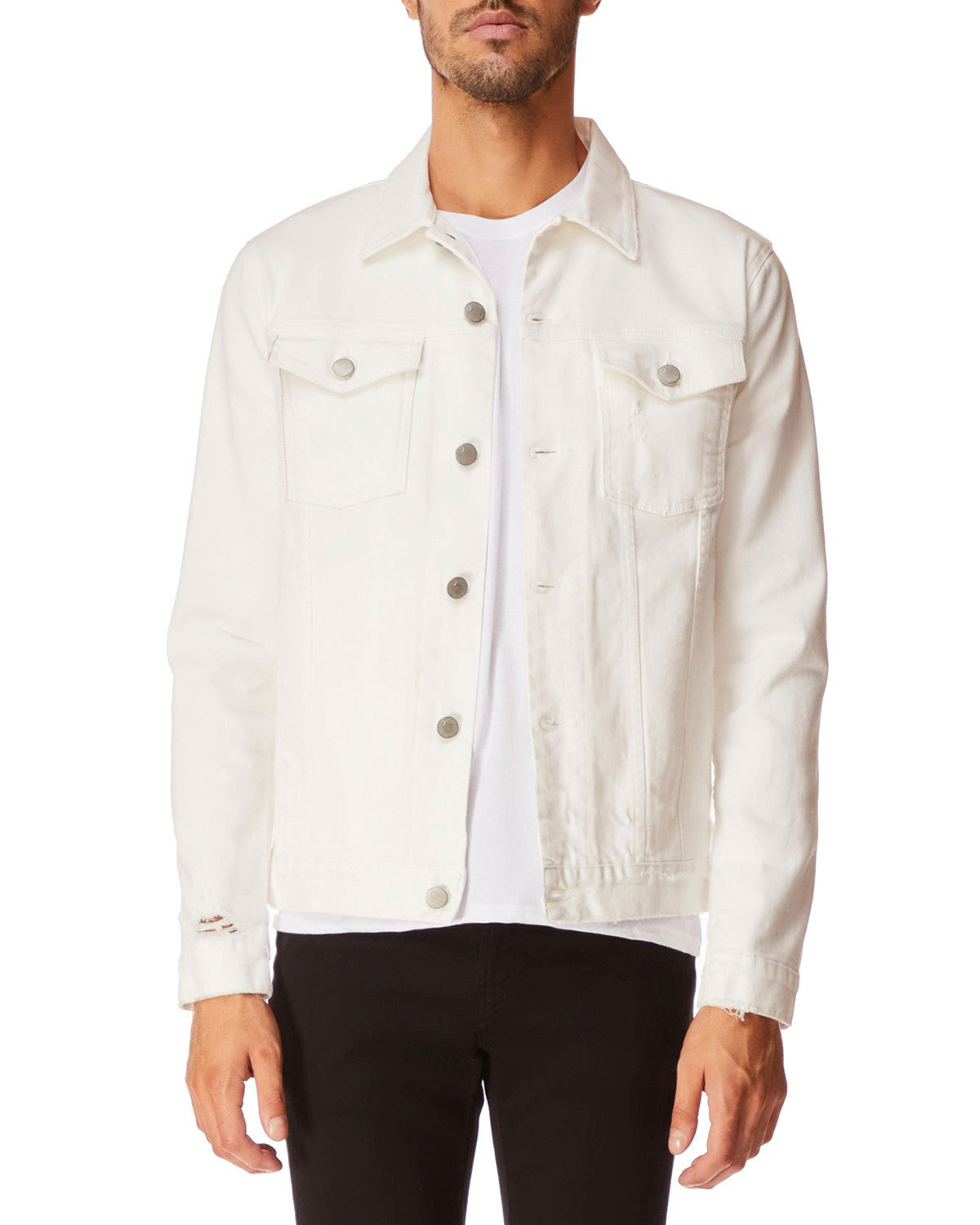 J Brand Men's Acamar Denim Jacket In White