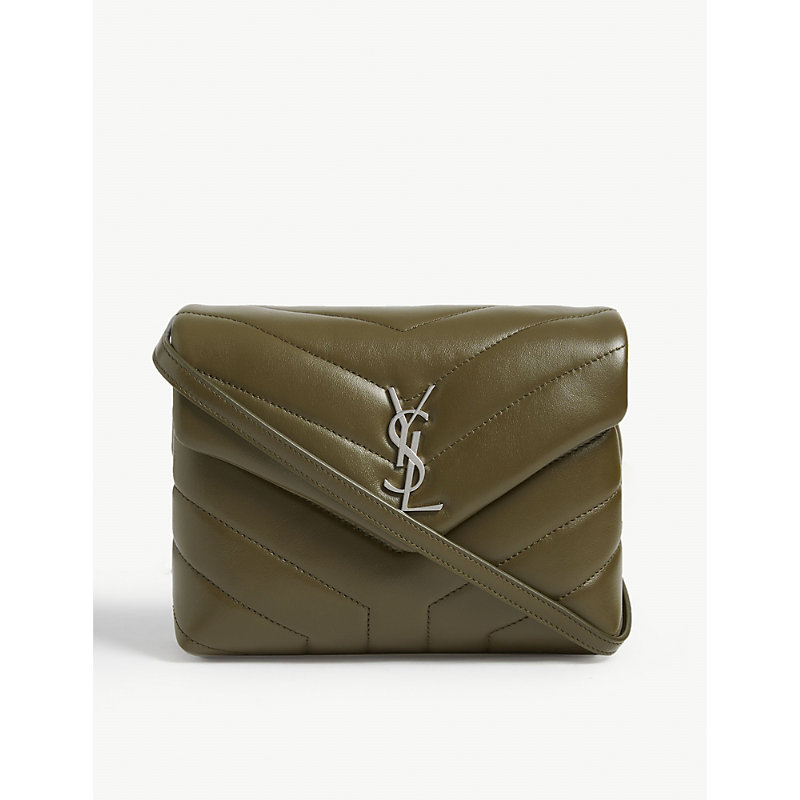 55409c2c5428 Saint Laurent Monogram Loulou Quilted Leather Cross-Body Bag In Light Khaki