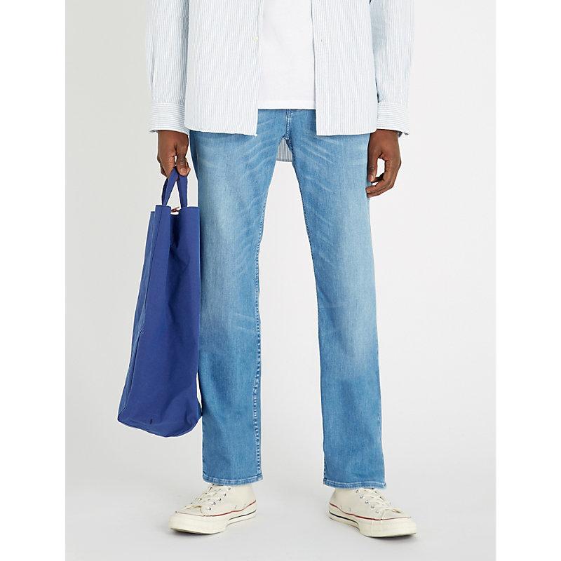 7 For All Mankind Standard Weightless Regular-Fit Straight Jeans In Kuta Light Blue