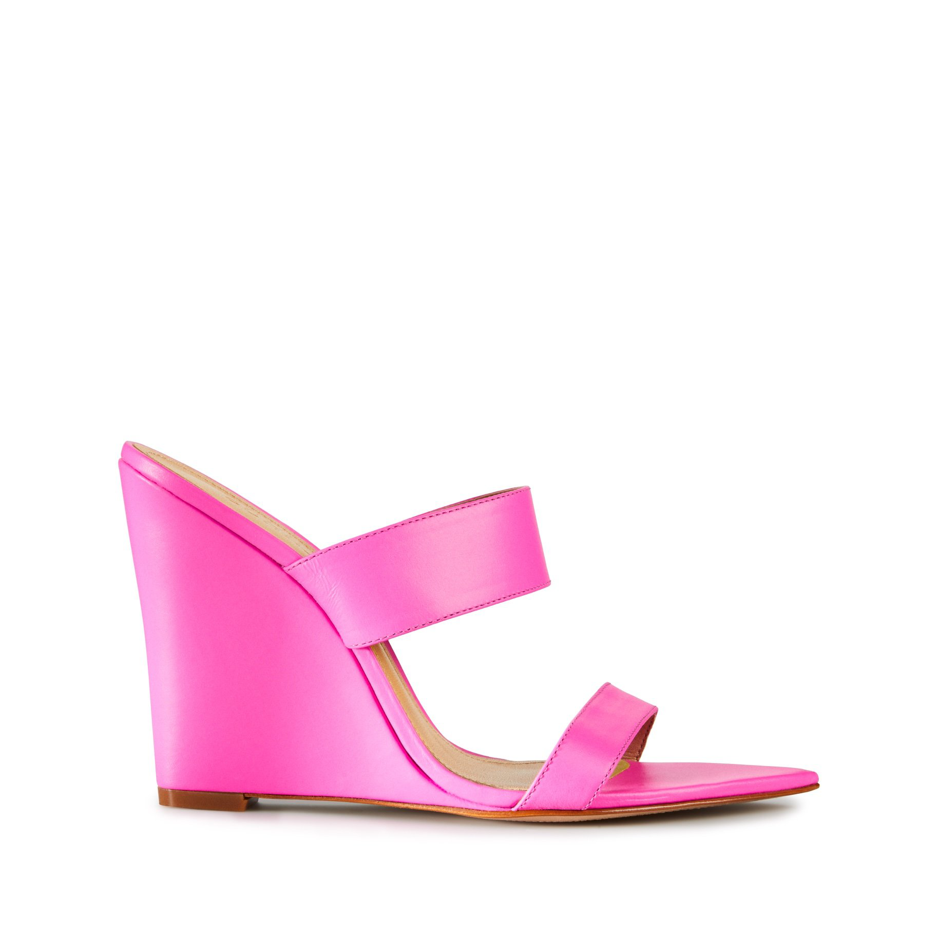 7fcb63c97fc4 Schutz Women s Soraya High-Heel Wedge Sandals In Neon Pink
