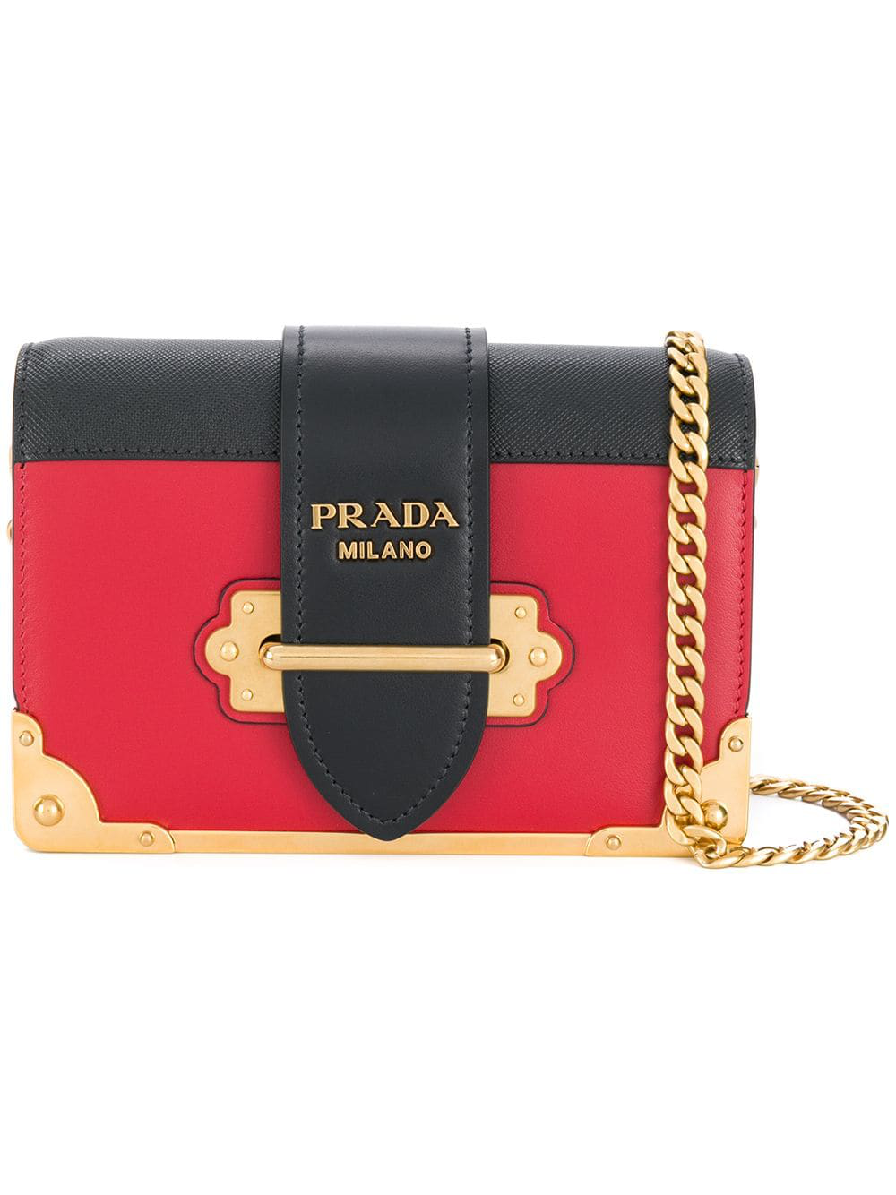 c72920b24a19 Prada Cahier Leather Shoulder Bag - Red | ModeSens