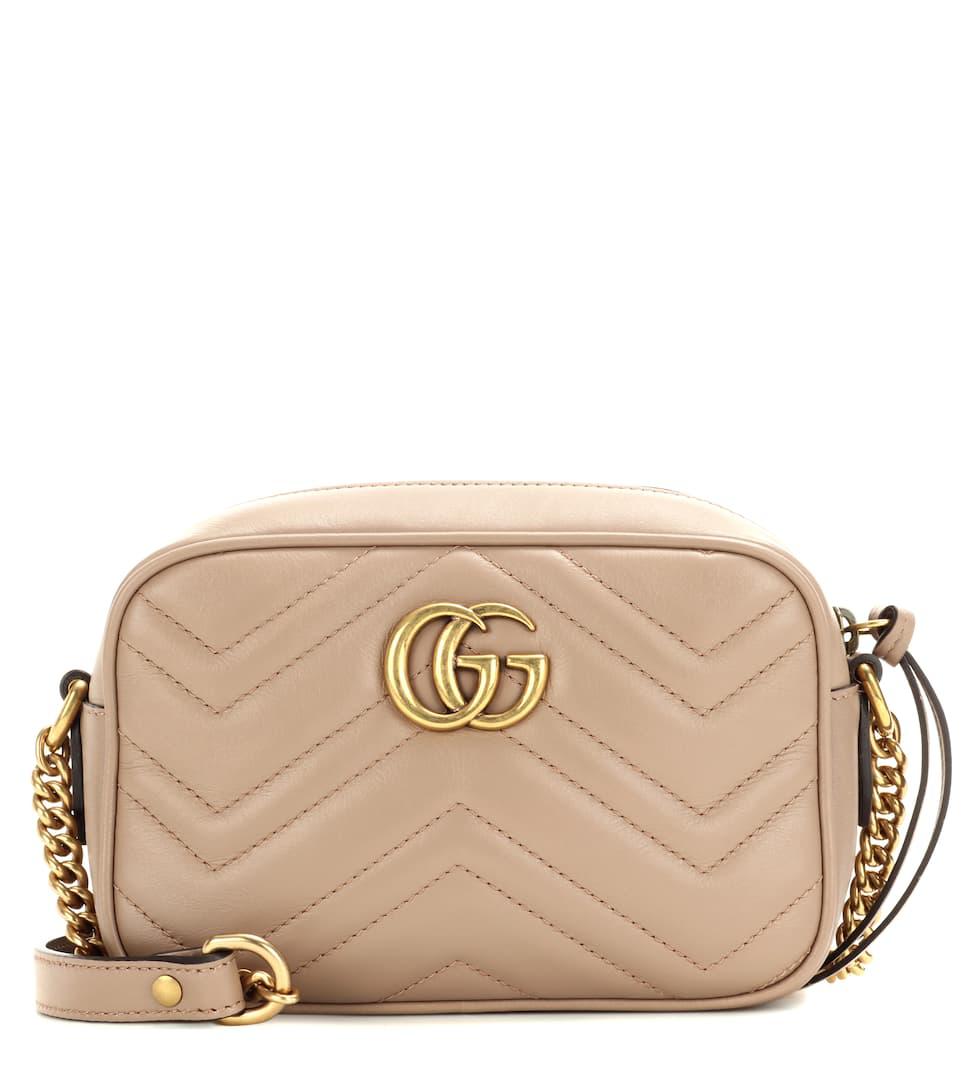 Gucci Gg Marmont Mini Crossbody Bag In Beige