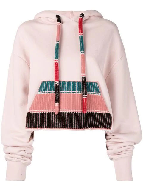 Alanui Knitted Pocket Hoodie In Pink