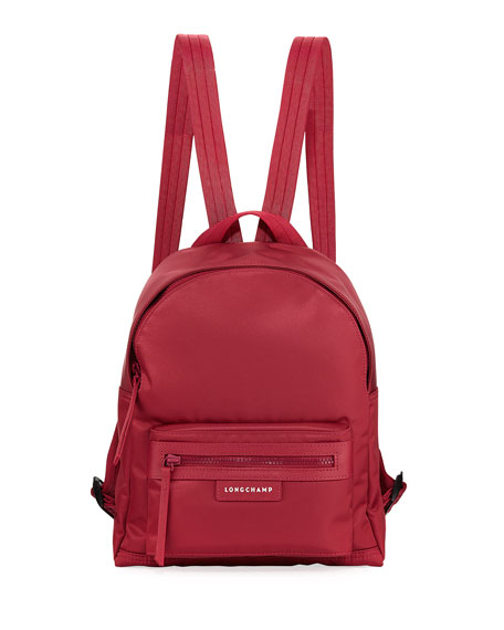 Longchamp Le Pliage Neo Small Backpack In Dark Red