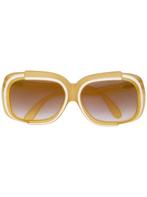 Dior Pre-owned Oversized Sunglasses In Yellow