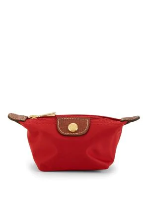 Longchamp 'Le Pliage' Coin Purse In Red