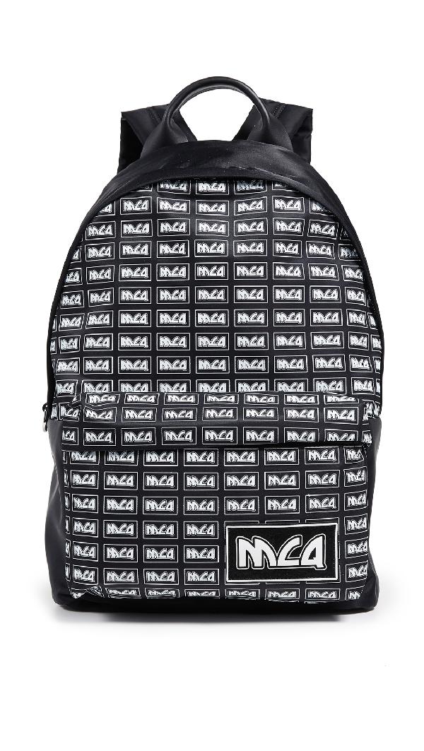 Mcq By Alexander Mcqueen Mcq Alexander Mcqueen Logo Print Backpack - Black