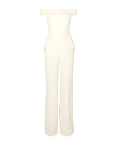 Roland Mouret Danielson Off-the-shoulder Crepe Peplum Jumpsuit In White
