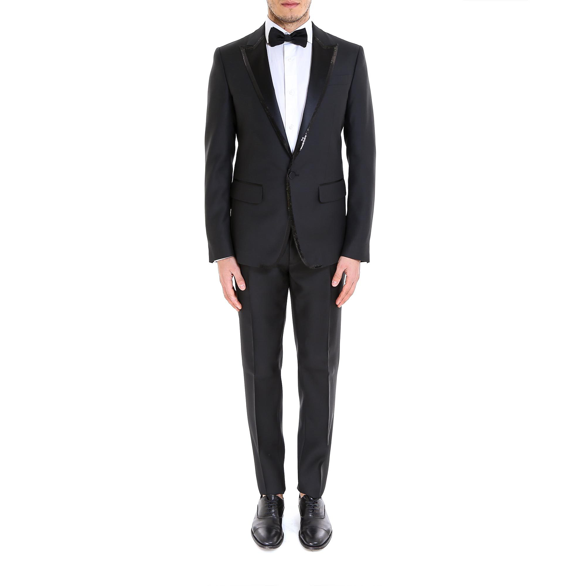 Dsquared2 Sequinned Two Piece Suit In Black