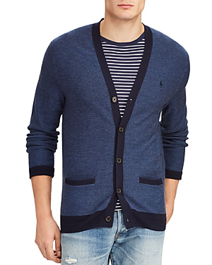 Polo Ralph Lauren Lightweight Cardigan In Blue