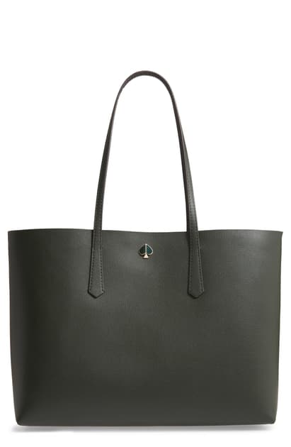 Kate Spade Large Molly Leather Tote In Deep Evergreen