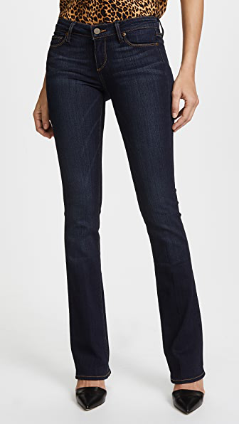 Paige Transcend Manhattan Boot Cut Jeans In Armstrong
