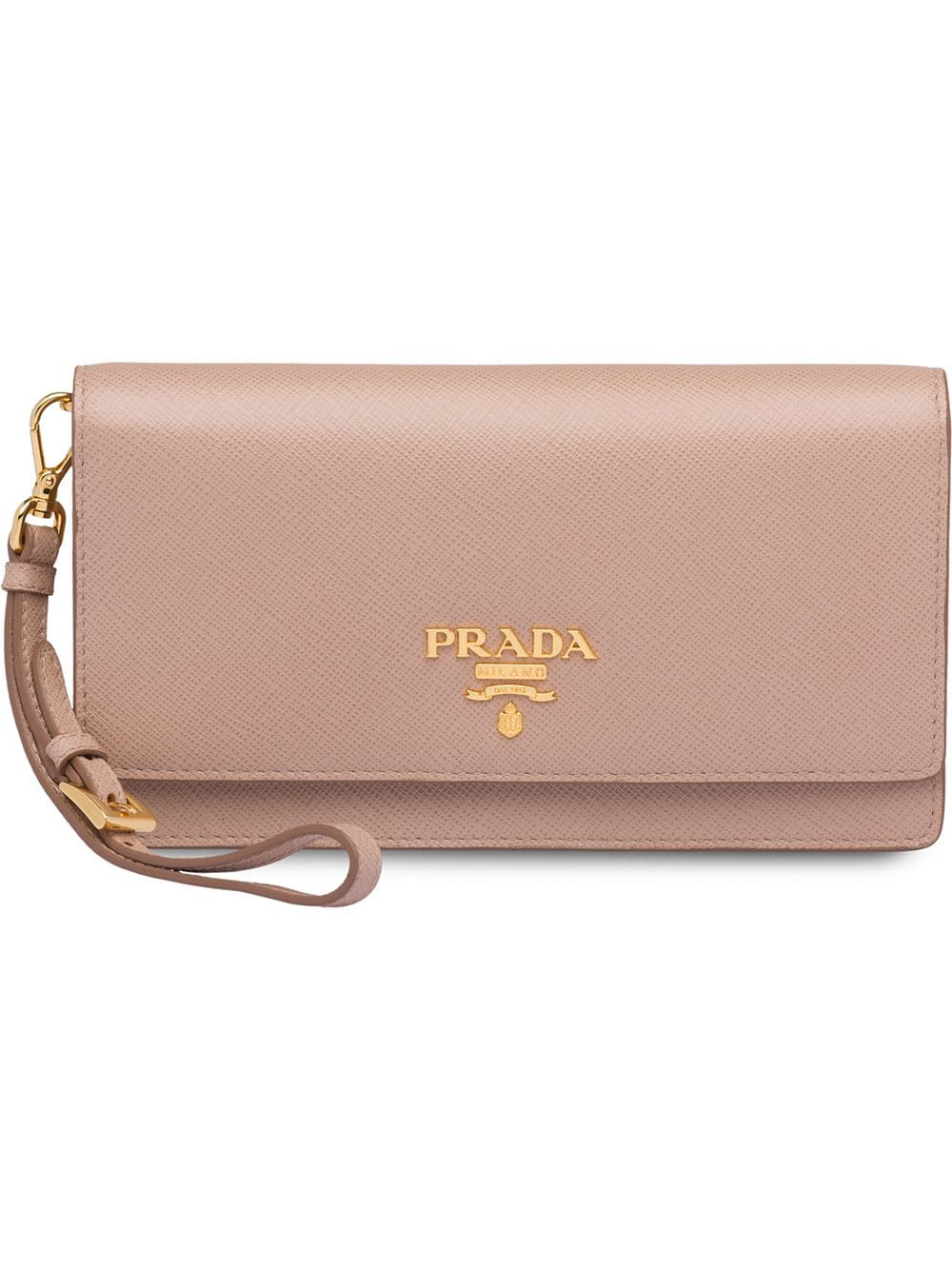 96dbb5497a68 Prada Saffiano Leather Mini-Bag - Pink