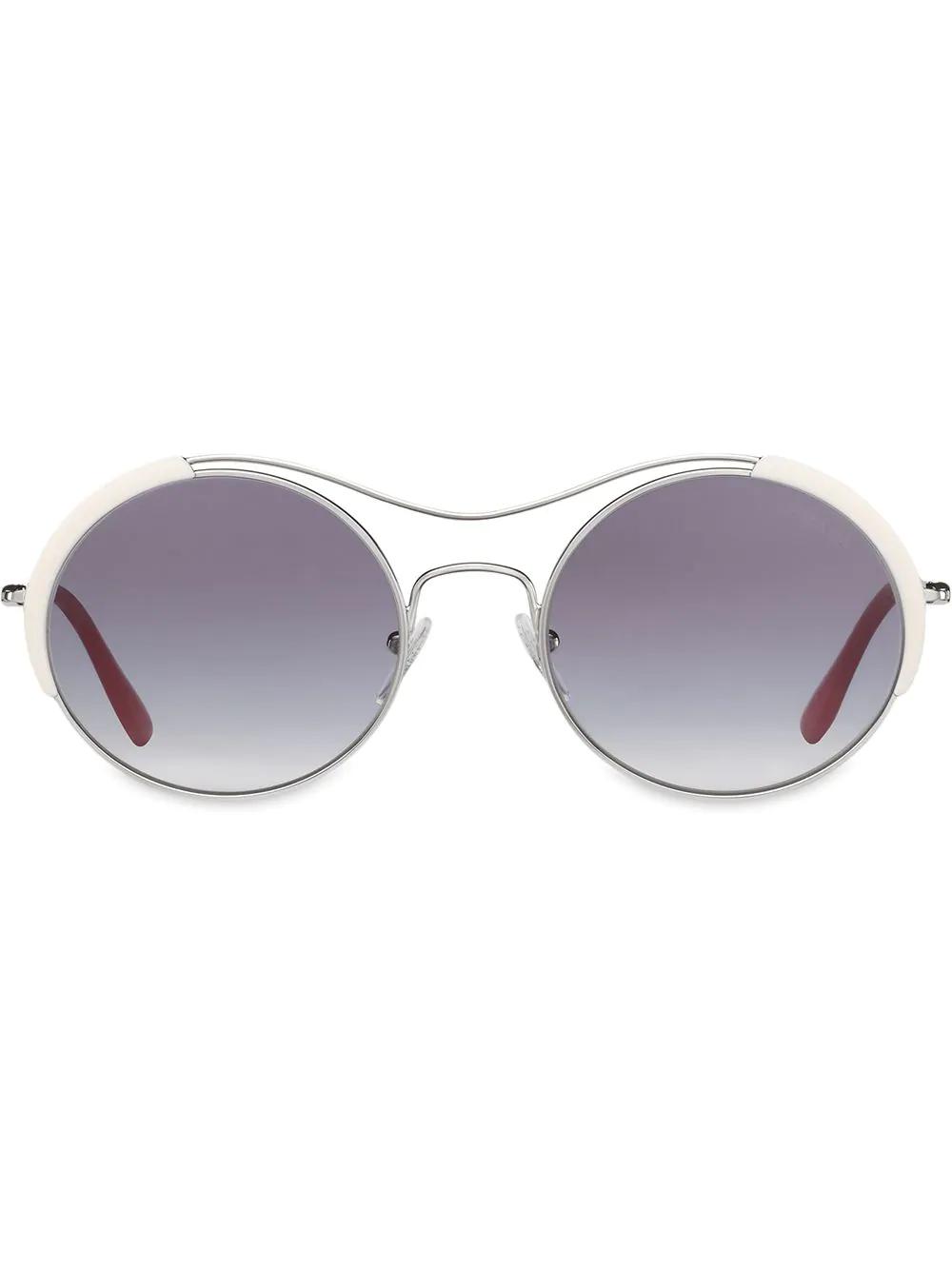 98547f7222c Prada Eyewear Round Shaped Sunglasses - White