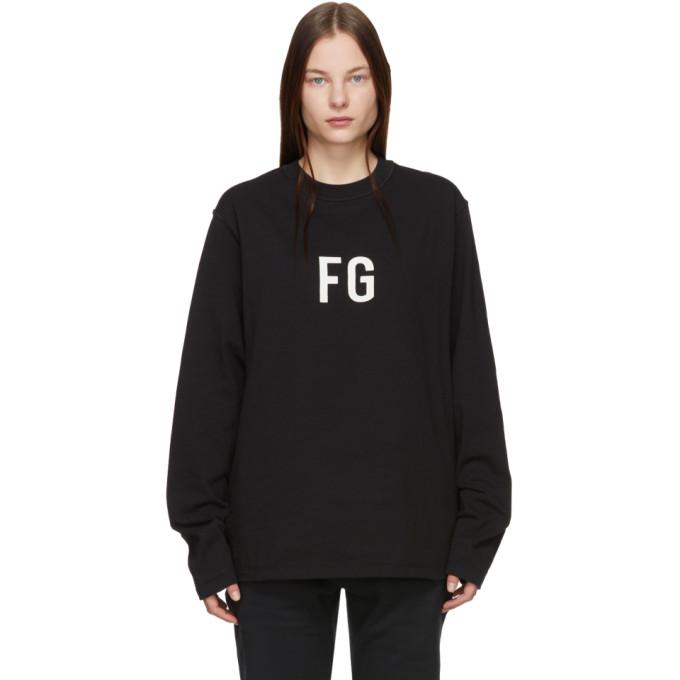 Fear Of God Black Fg Long Sleeve T-Shirt In 010 Vintage