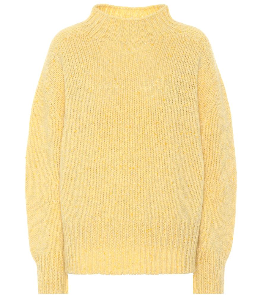 Dorothee Schumacher In Heaven Turtleneck Sweater In Yellow