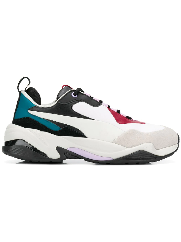 Puma Thunder Rive Droite White Leather And Fabric Blend