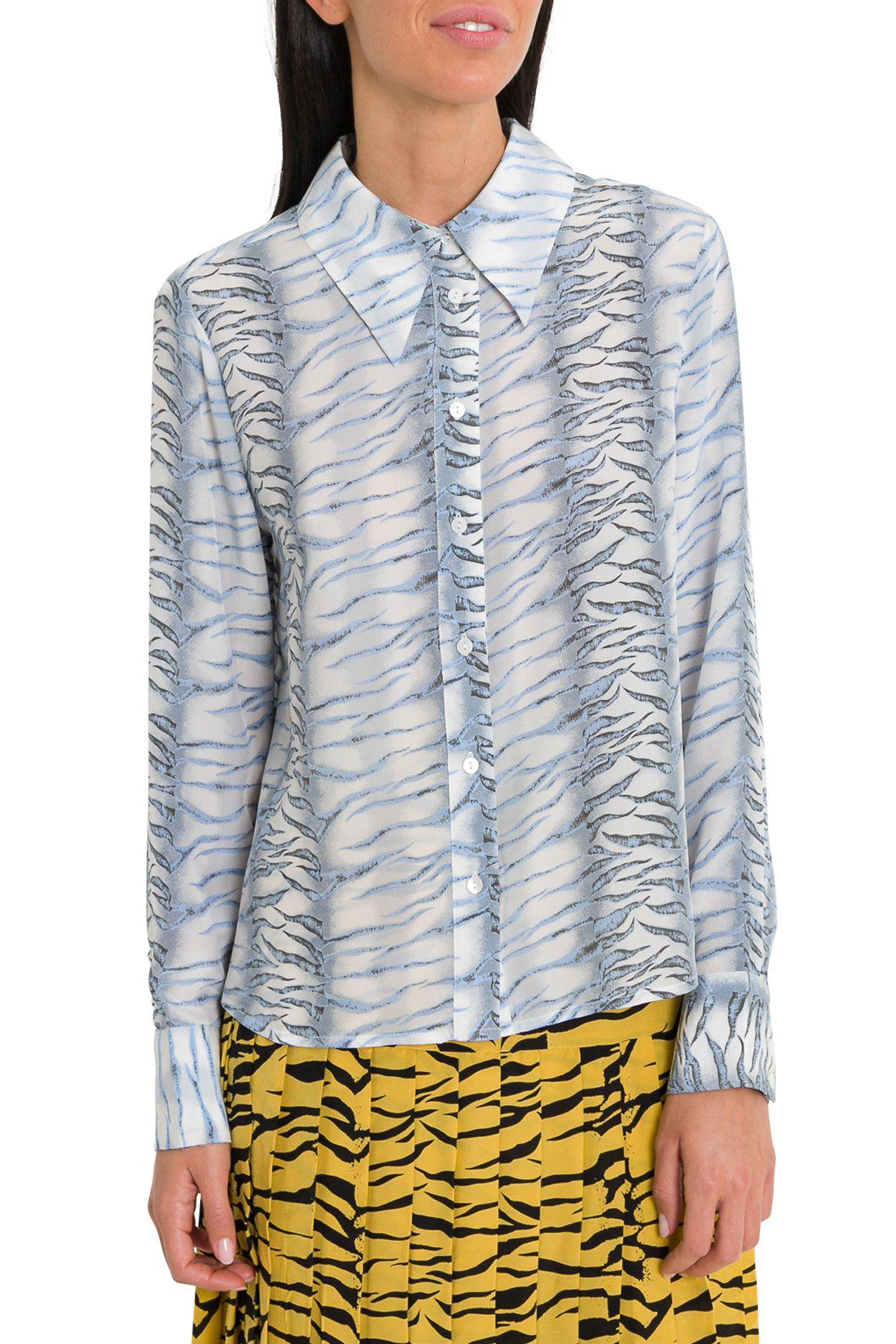 9cc23670f Rixo London Jamie Tiger Pattern Shirt In Blue | ModeSens