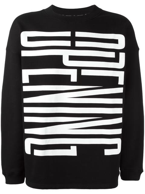 Opening Ceremony Logo Print Sweatshirt In Black