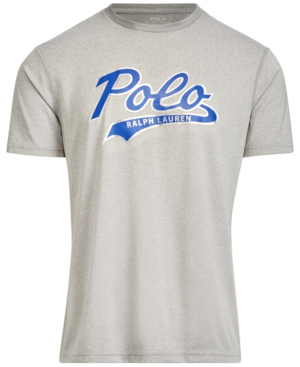 446c24dc Polo Ralph Lauren Men's Active Fit Performance T-Shirt In Andover Heather