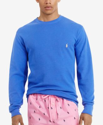 dca94145b99 Polo Ralph Lauren Men  039 S Solid Waffle-Knit Crew-Neck Thermal Top ...