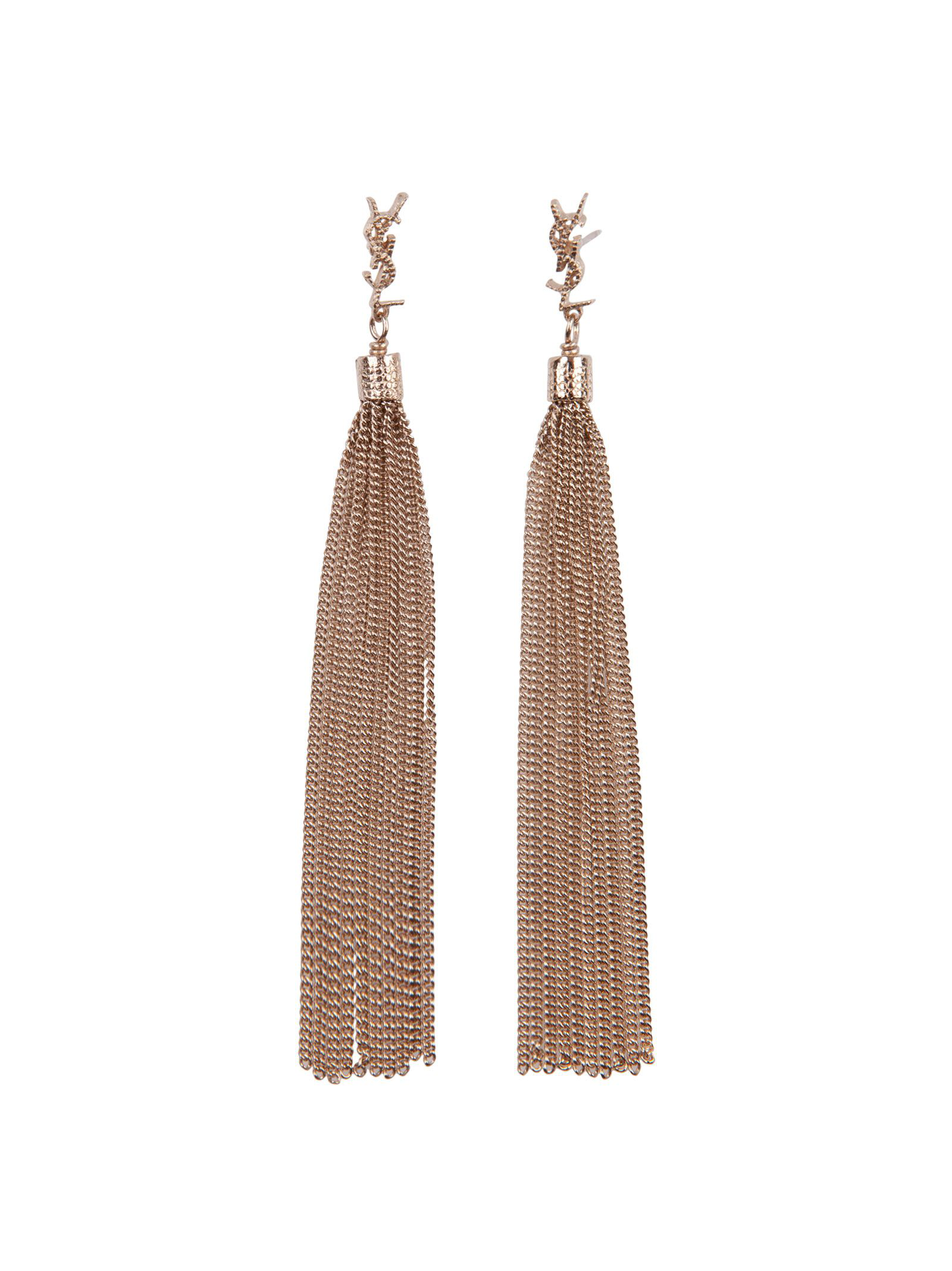 Saint Laurent Earrings In Gold
