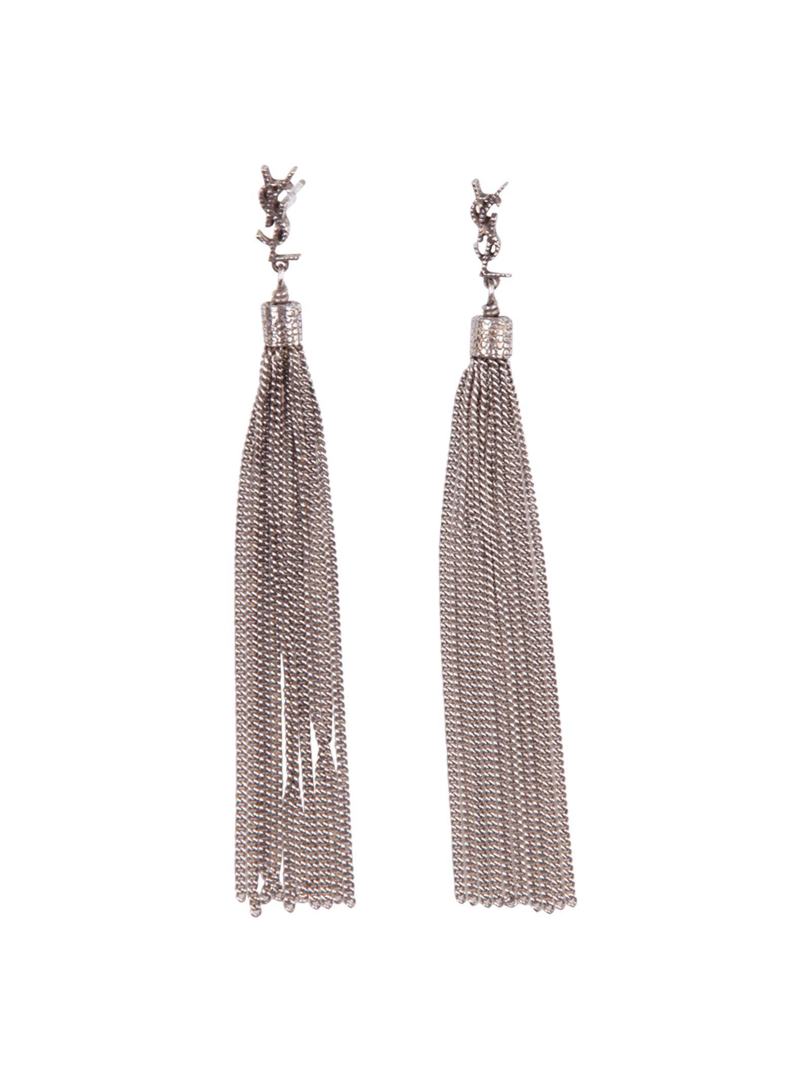 Saint Laurent Earrings In Silver